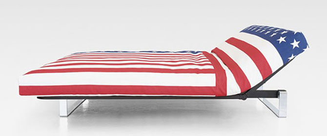 Sofa Bed Design with American Flag Cover Inspirations