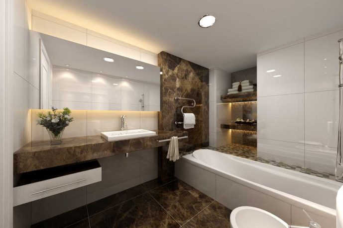 Special Modern and Minimalist Bathroom Designs Marble and Corian