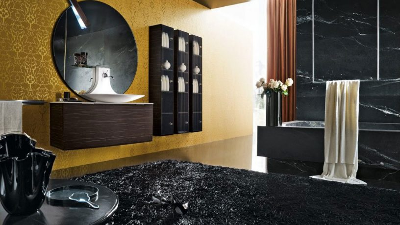 Top Design Luxurious and Modern Black Bathroom