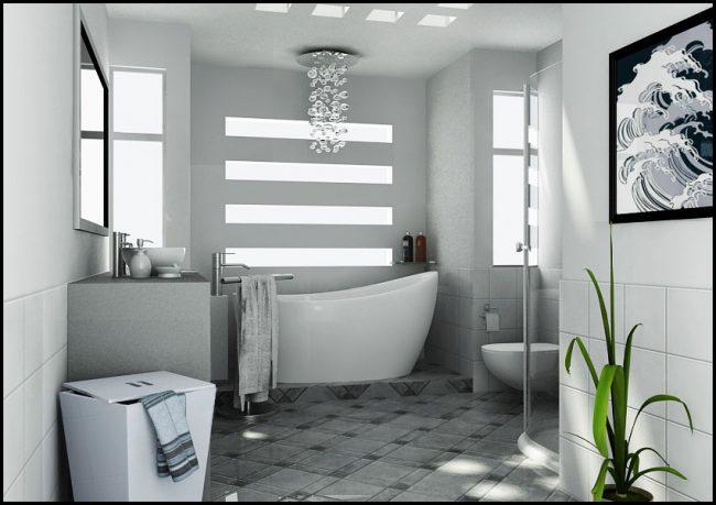 White Bathroom by Basaran