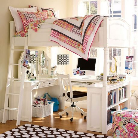 White Bunker Beds Dorm Room 2011