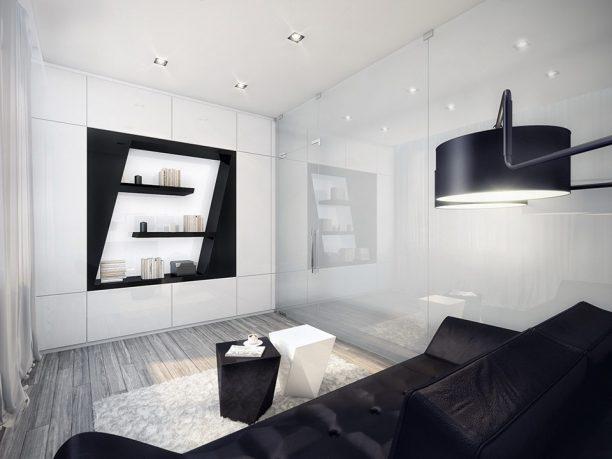 Amazing Black and White Living Room Design