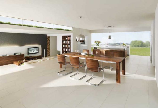 Beautiful Home Interiors Modern Dining Set with Golf Course View