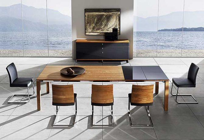 Beautiful and Modern Sustainable Dining Set Ocean View by Team 7