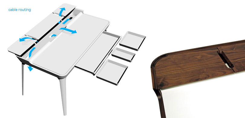 Cool Study Desk for Modern Teen Room Design from Kaijustudios
