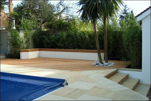 Family Designer Garden Inground Pool Ideas