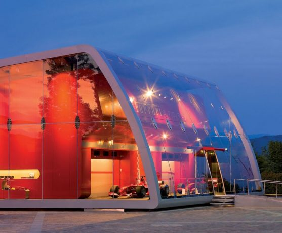 Full Glass Ferrari Factory Store Design