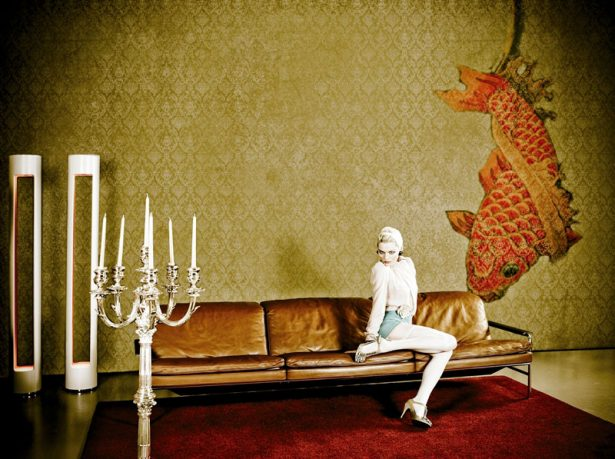 Gio Pagani Vintage Japanese Goldfish Wallpaper Design
