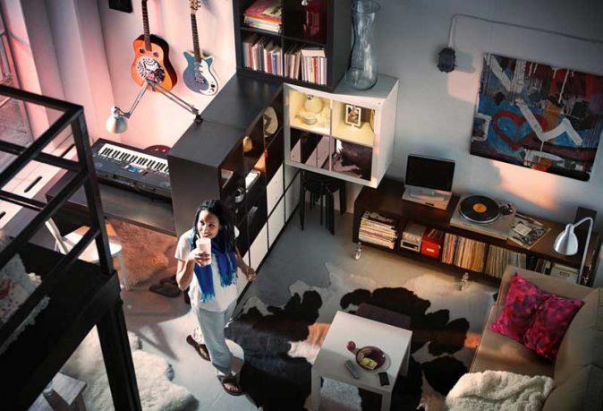 IKEA Multilevel Living Room Design Ideas