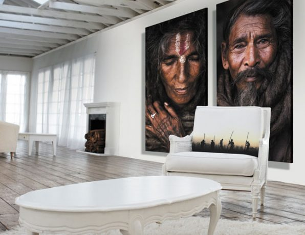 Indian Tribes Wall Posters in Loft Living Room