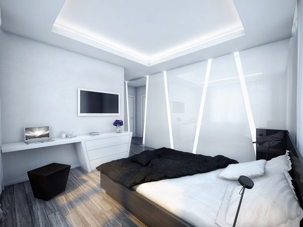 Luxurious White and Black Bedroom Design Ideas