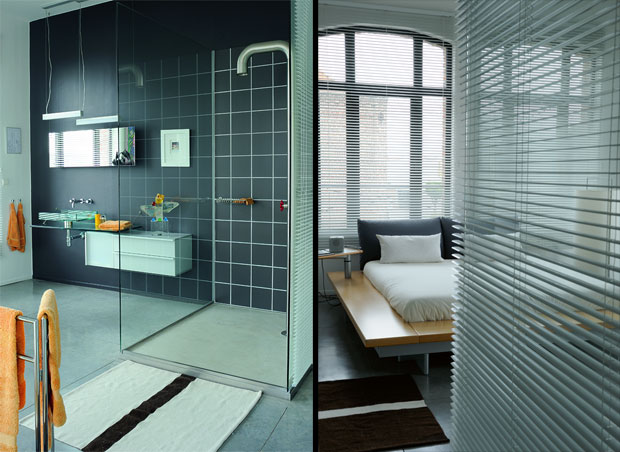 Modern Bathroom and Bedroom Loft Design Ideas