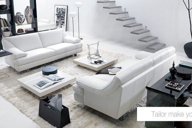 Modern Black And White Living Room With Minimlistic Stairs And Lamp My Home Deco Mag