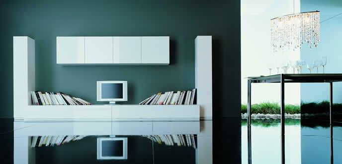 Modern Wall Unit Bookcase Furniture