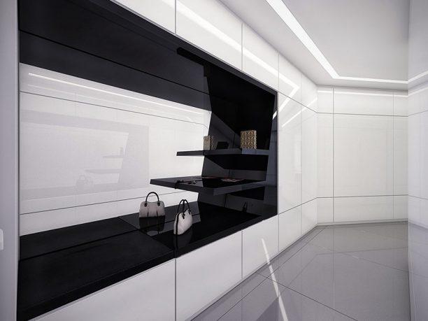 Modern White and Black Closet Design by Geometrix