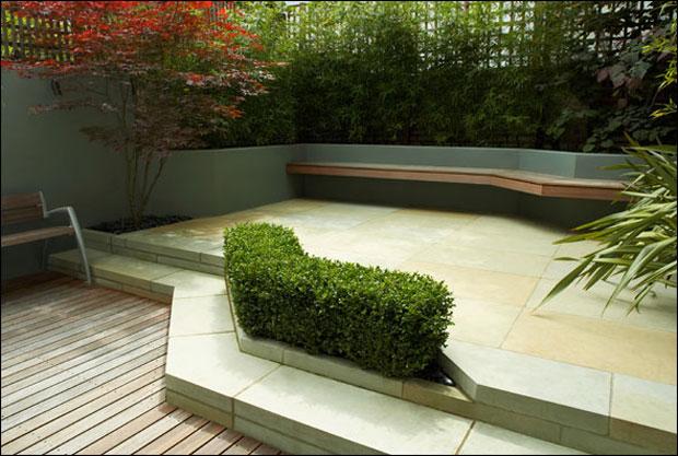 Modern and Beautiful Patio Fenced Garden