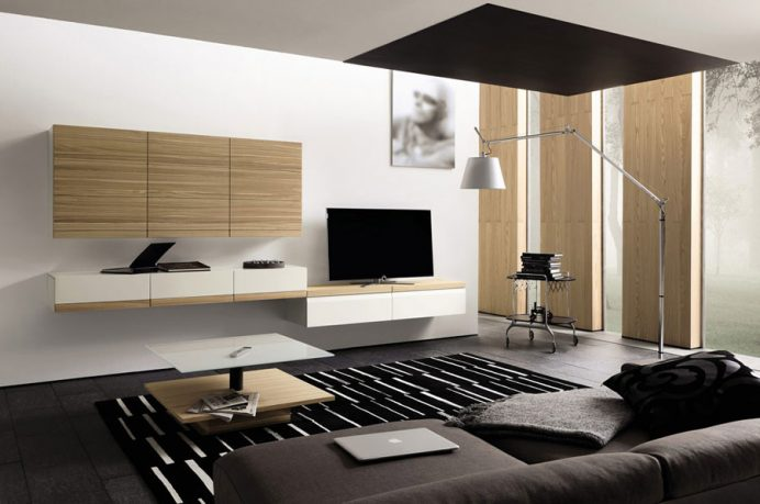 Modern and Masculine Living Room with Media Areas