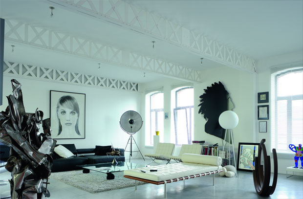New Classic Style Loft Living Room