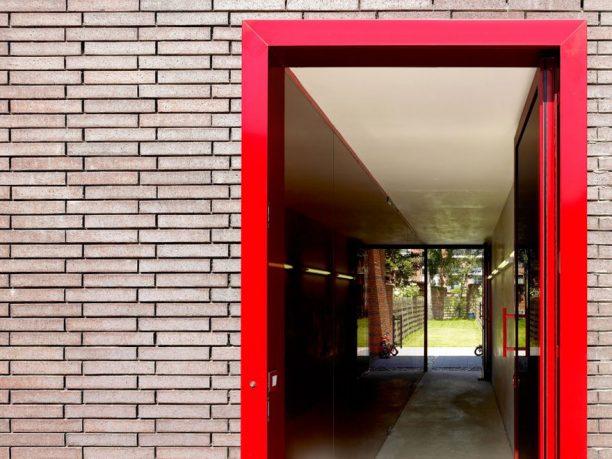 Red Alumunium Doorframe