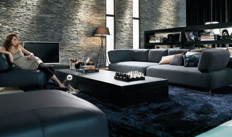 Textured Walls Luxury Living Room Design