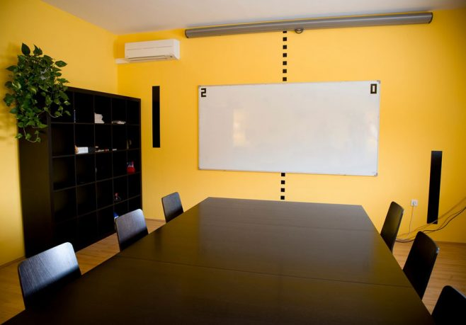 Yellow Conference Room Wall Decals