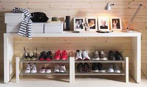 2012 Wooden IKEA Shoe Rack Organization Ideas