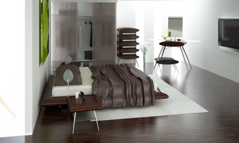 Awesome and Modern Bed with Wooden Base