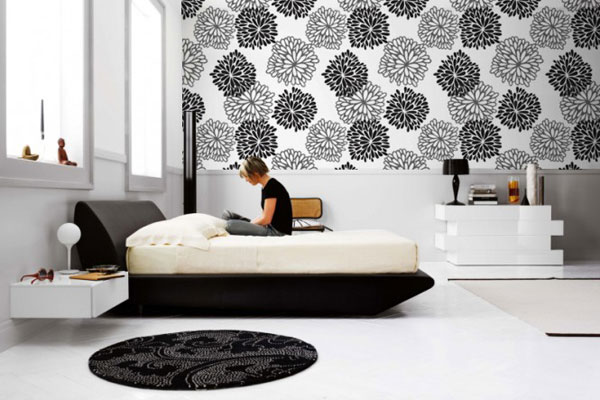 Cool Black and White Wall Sticker for Bedroom