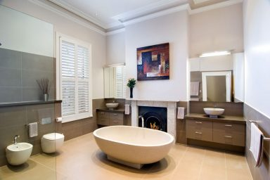 Cool and Clean Victorian Style Bathroom