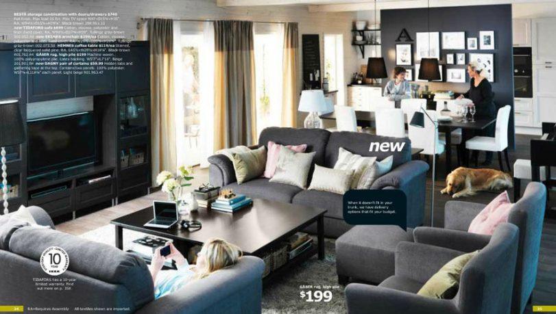 IKEA Dark Living Room Ideas
