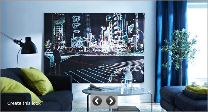IKEA Large Pictures Make a Impressive Living Room