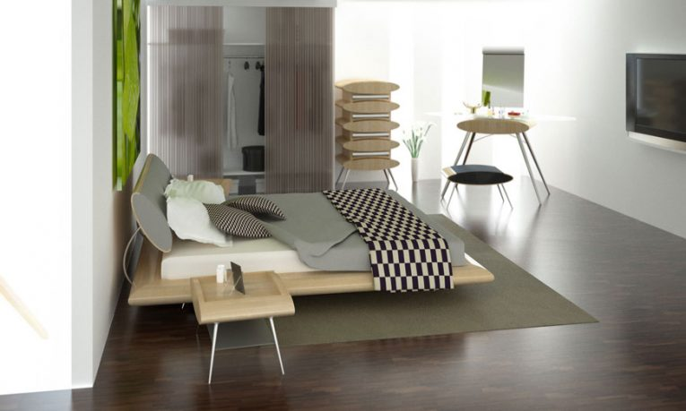 Modern and Elegant Bedrooms by with Black and White Patterned Cover