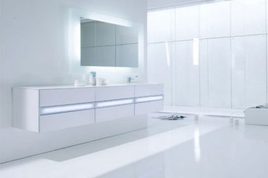 Modern and Hi Tech White Bathroom Inspirations