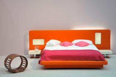 Orange and Pink Low Pad Bed Design