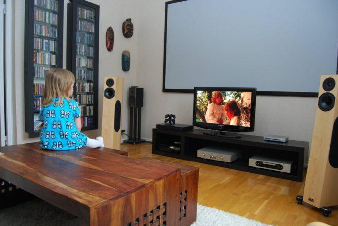 Scandinavian Living Room Home Theatre Design Ideas