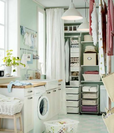 Simple IKEA Organized Laundry Storage 2012