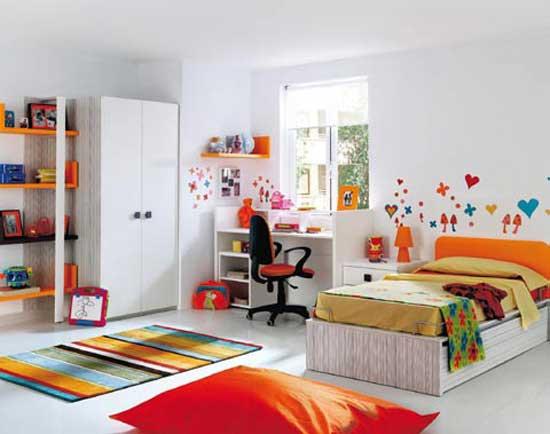 White Bedroom Design for Kids