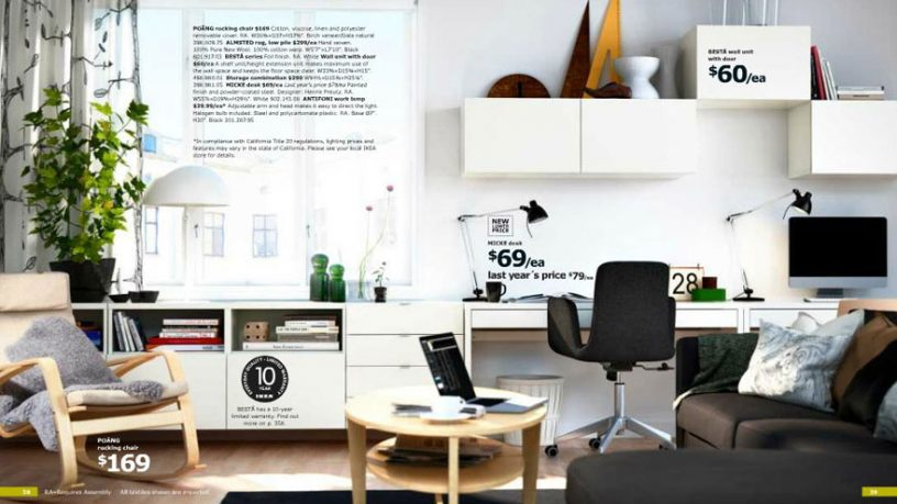 White IKEA Home Office with Planner for Mac