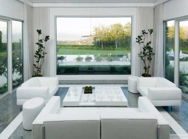 Beautiful White Living Room 2012