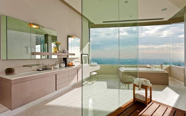 Cool Bathroom with Outdoor Views