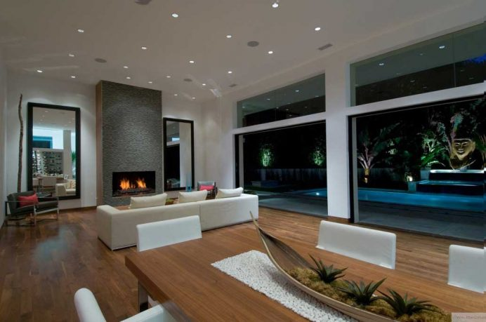 Cool Living Room Pool View