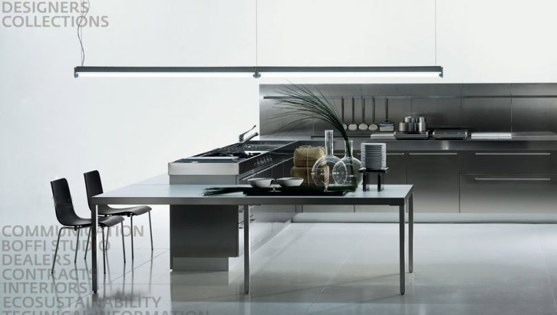 Grey Kitchens with Stainless Steel Furniture Bofotti