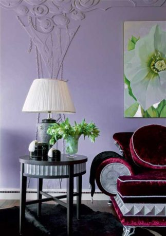 Living Room Corner with Classic Lamp Decoration