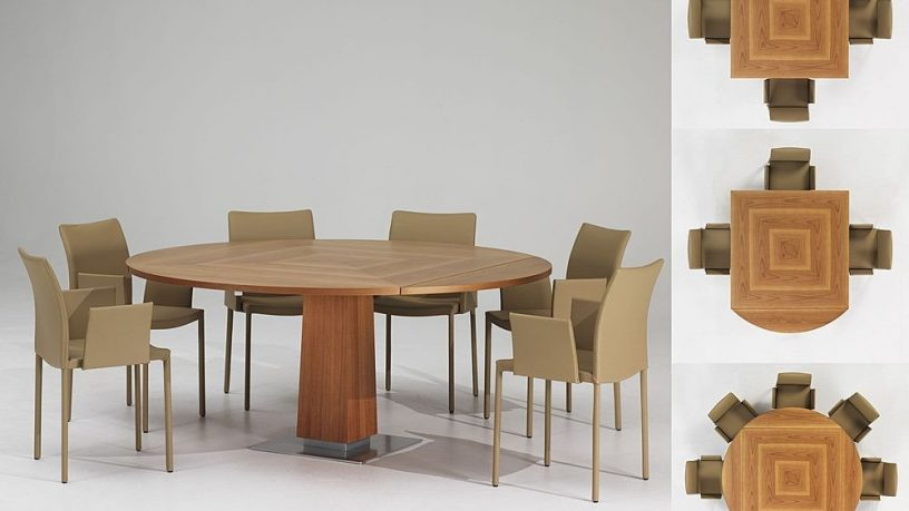 Modern Extendable Wooden Dining Table