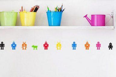 Teen Wall Stickers Robots Design