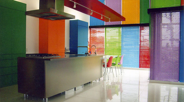 Cool and Colorful Rainbow Kitcen Design