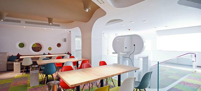 Second Floor Cool Cafe Interior Ideas