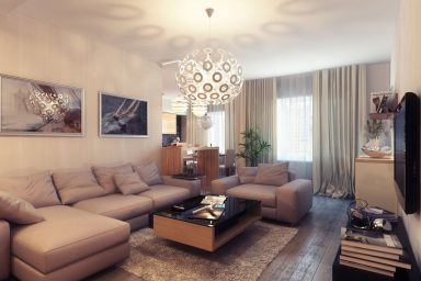 Small Warm and Comfort Living Room Design