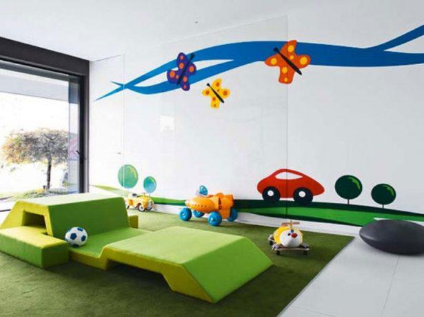 Colorful Funy Kids Playroom Design Ideas