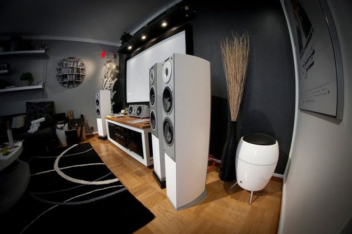 Cool Living Roome Color with Entertainment Setup